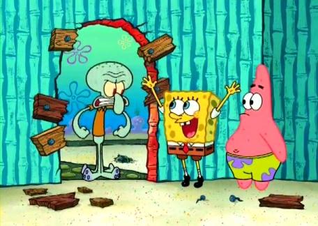 Interior Pada Rumah Tinggal Spongebob Squarepants There S Something About Geometry Architecture