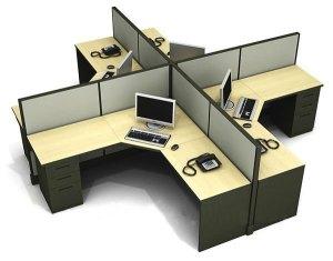 meja kantor kubik