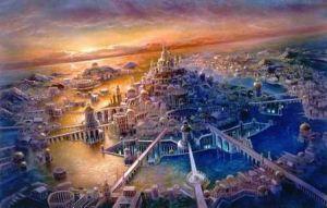 Gambaran modern Atlantis berdasarkan deskripsi Plato