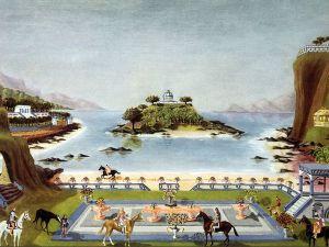 Ilustrasi Atlantis oleh Sir Gerald Hargreaves