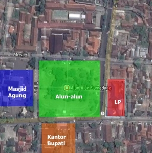 Zoning Alun-alun Kota Sumedang, Jawa Barat