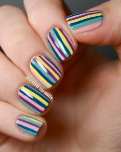 multicolor-stripes-nail-art