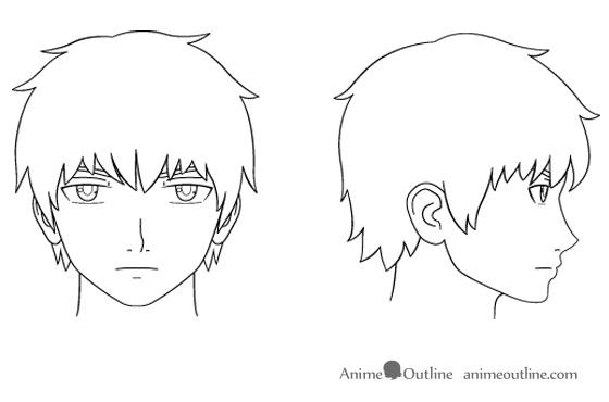 anime male face - 560×370