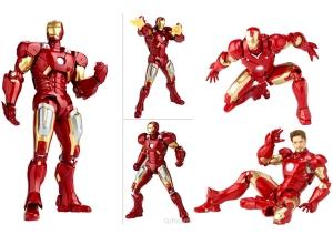 Action figure dengan detail dan beragam pose
