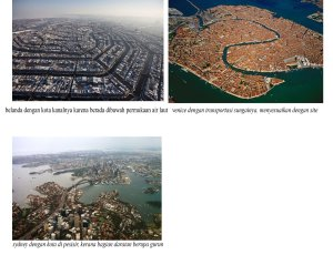 "sebuah kota yang ""ideal"" berdasarkan lokasi dan tradisinya"
