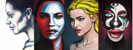 Face Painting dengan Efek Dua Dimensi