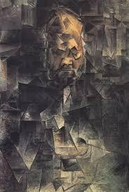 Potret Ambroise Vollard yang terdiri atas bidang-bidang overlap