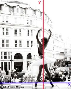 Analisis garis khayal simetri pada tubuh penari balet