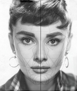 Asymmetric Face Audrey Hepburn